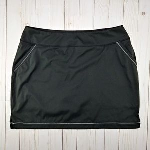Adidas Black Pull On Skort with Reflective Strips